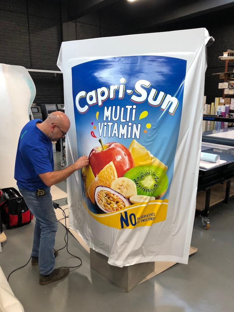 Giant Capri-Sun packaging