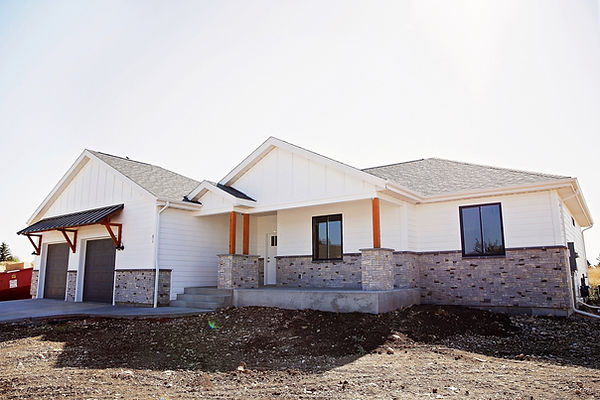 Custom home by First Choice Builders on Dome Rd in Sheridan WY