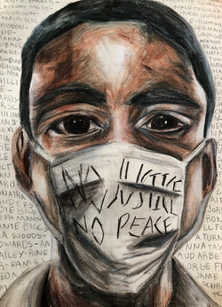 """By Lilli Feronti   """"In a time when the world feels unstable, we rise. As a white person, creating this art was both a privilege and a learning experience. I spent many hours researching victims of police brutality, appropriate ways to discuss race, and how to be an ally with black people affected by racism. I take this opportunity to listen, to learn, and most of all, to fight alongside this community.""""  Lilli Feronti is a 14 year old artist based in Massachusetts who specializes in painting, drawing, and mixed media. She  is a budding activist and a creative soul, and is happiest when knee-deep in a new project. She is always open to adventure, discovery, and new experiences, and is thrilled to have an opportunity to share her work!  Instagram: @lillicc_art"""