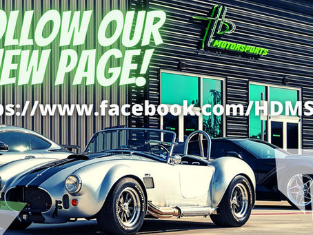 We have a new facebook page!