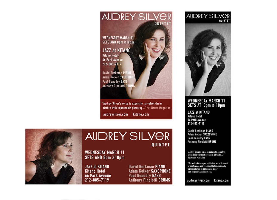 Variety of online and print ads
