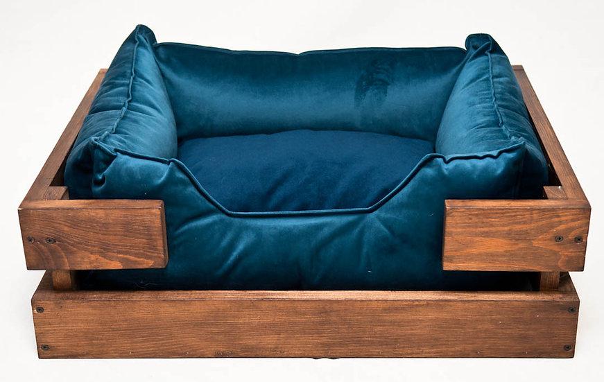 Лежак 60:45 с деревянным каркасом