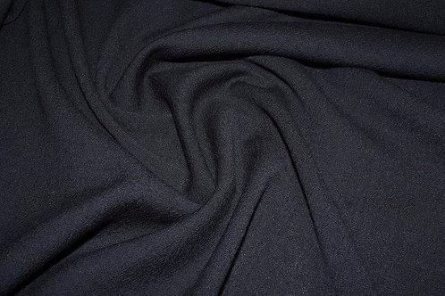 8д.821045 Шерсть костюмная черная ширина 146см 100%шерсть
