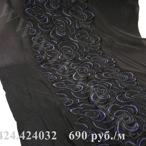 424.424032 Вышивка плотная на сетке-стрейч Ширина 14,5 см Производитель Италия