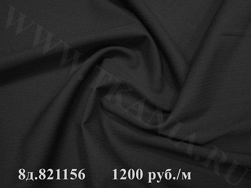 Шерсть костюмная, черная 8д.821156 82% шерсть 18%ви ширина 155 см Италия