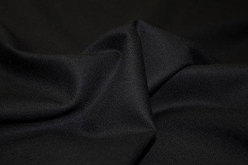 8б.810089 Шерсть габардин ширина 155см цвет черный 70%шерсть 27%пэ 3%эл