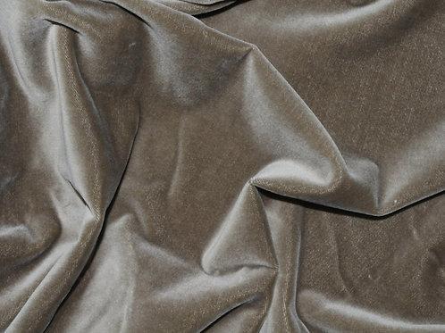 Ткань Бархат серый (100% хлопок, Германия)