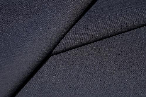 8л.825023 Шерсть костюмная темно-синяя ширина 155см 86%шерсть 12%ви 14%пэ
