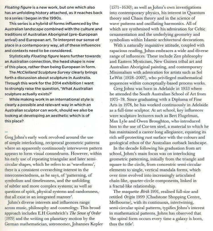 Robert Lindsay's essay on Greg Johns