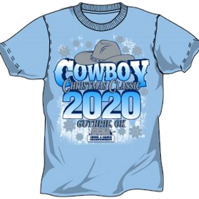 Cowboy Christmas Classic Oklahoma Short Sleeve Event T-Shirt