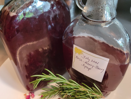 Rose-merry-berry Syrup