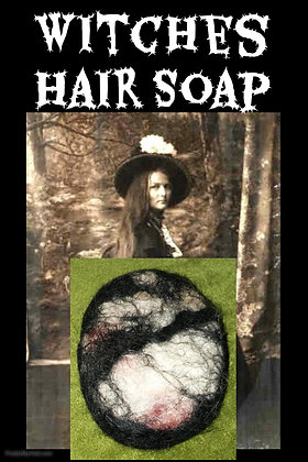 Witches Hair Soap Black