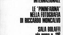 """1968. """"Le Pininfarina nella fotografia di Riccardo Moncalvo"""". Sala Bolaffi, Torino, 26 ott"""