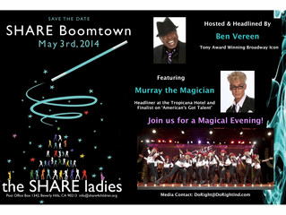 Ben Vereen and Murray the Magician headline May 3rd fundraiser with the Ladies of SHARE