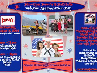 Pin Ups, Pann's & Patriots: Veteran Appreciation Day Oct 8th
