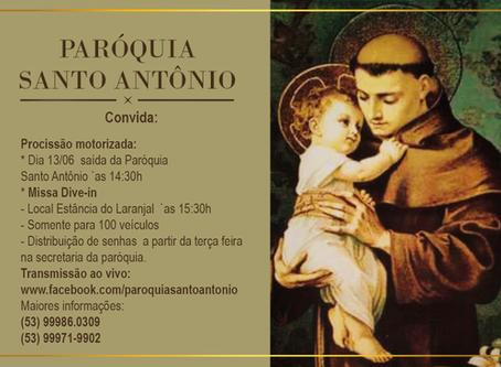 Missa Drive in em homenagem a Santo Antônio