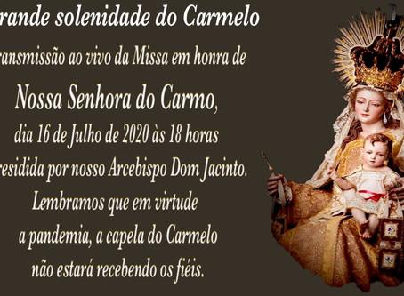 Missa em honra de Nossa Senhora do Carmo