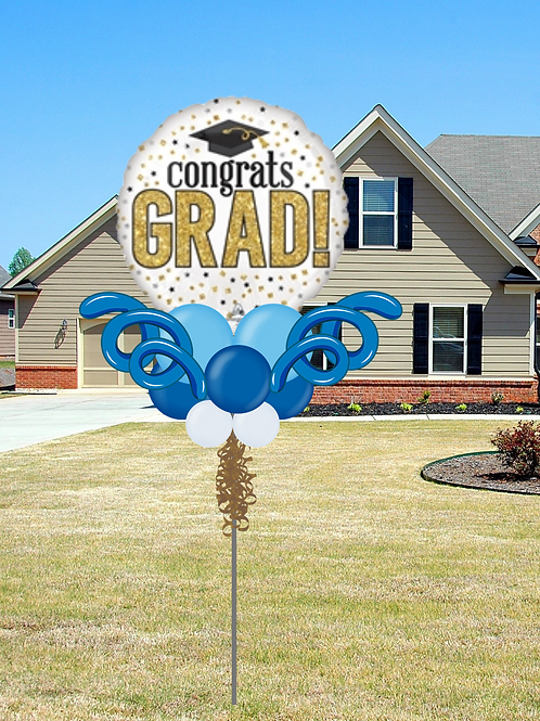 Grad Yard Pole with Curlie Qs