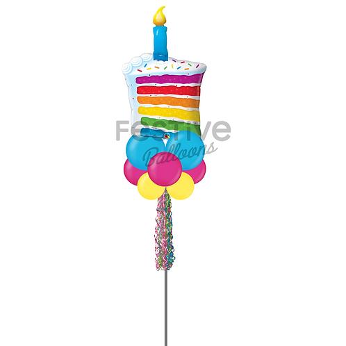 Slice of Cake Party Pole