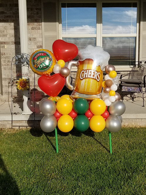 Oversized Foil Balloon with accents