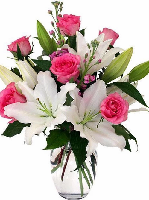 Pink and White Posy Bouquet