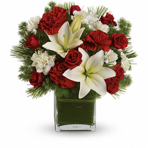 Crimson and White Bouquet