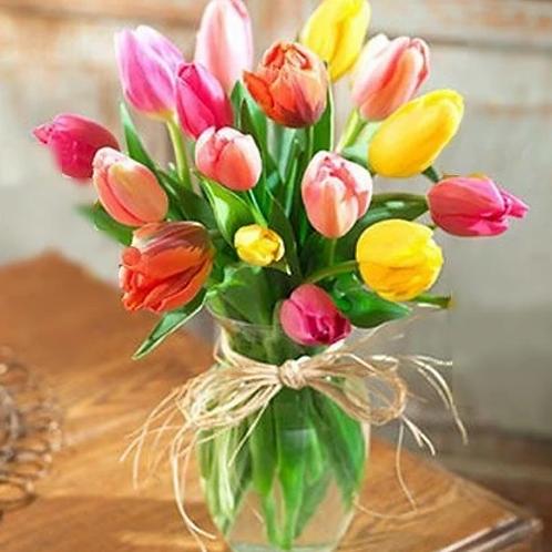 Assorted Colors Tulip Arrangement