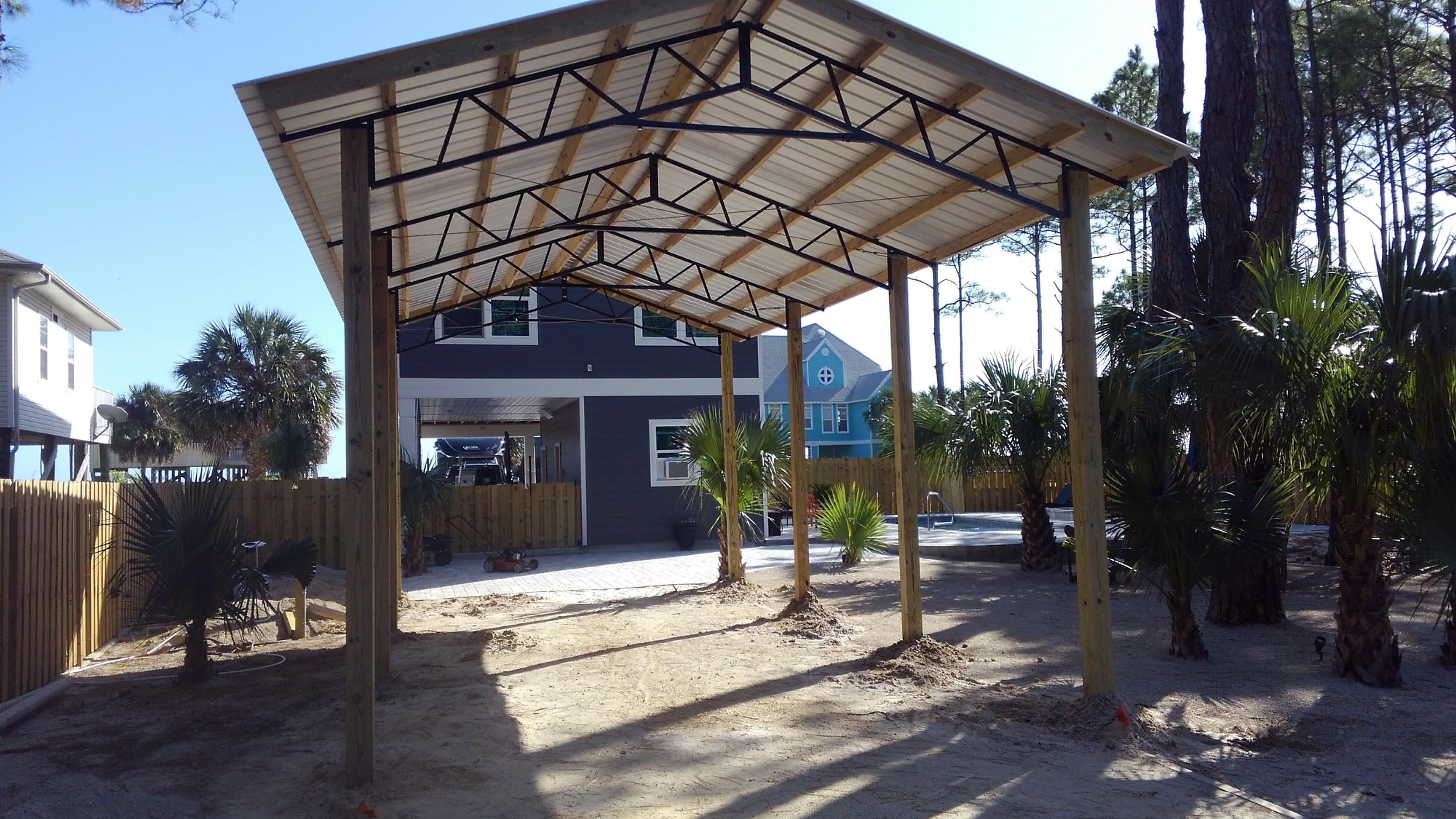 Pole Barn Kits Florida   Metal Trusses   Backwoods ...