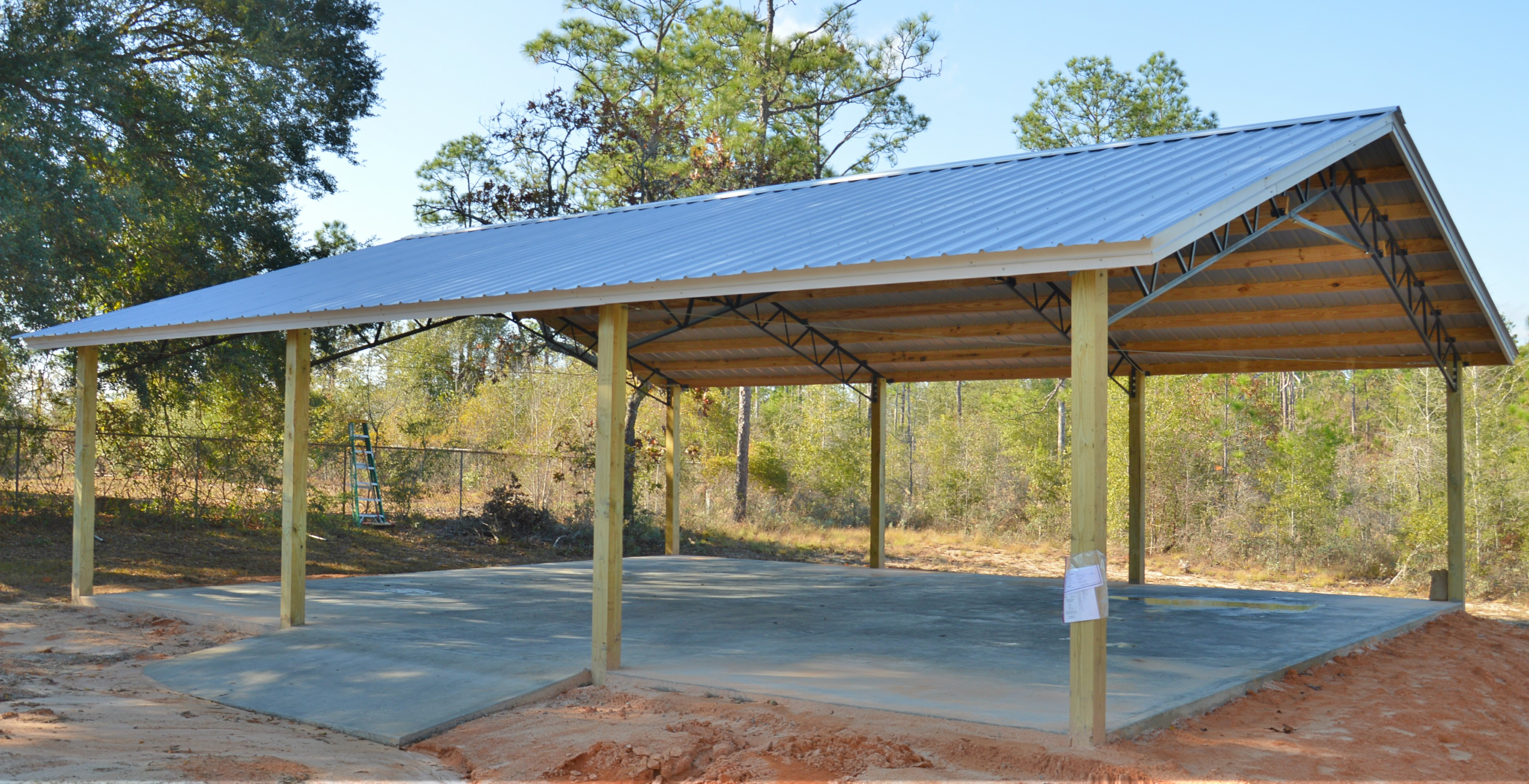 Pole Barn Kits Florida Metal Trusses Backwoods
