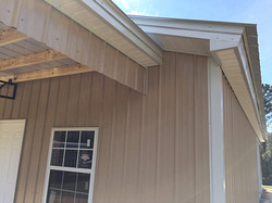 Metal roof, Metal trusses, pole barn