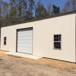 Pole barn with metal trusses florida