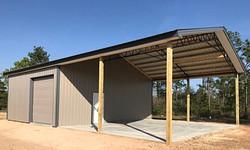 Pole barn Florida, metal trusses