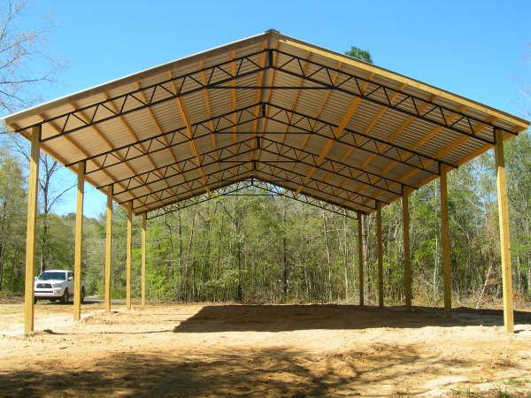 Backwoods Buildings Open Pole Barn