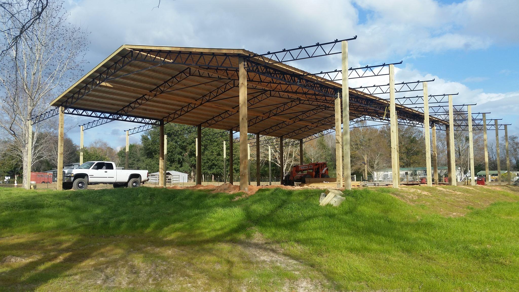 Photos Pole Barn Kits Florida Metal Trusses Backwood