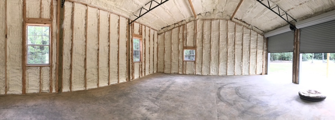 Spray foam insulation available