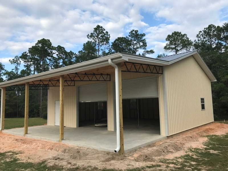 Metal Barn Kits >> Pole Barn Kits Florida Metal Trusses Backwoods Buildings