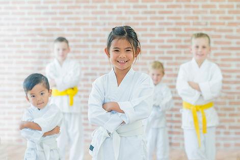 I principianti di arti marziali di classe