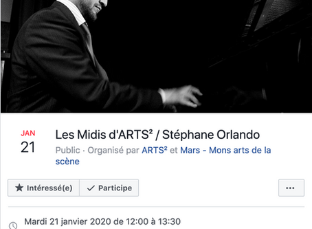 Les Midis d'ARTS² / Stéphane Orlando