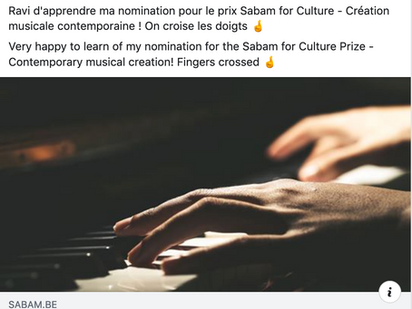 Prix Sabam for Culture -  Création musicale contemporaine
