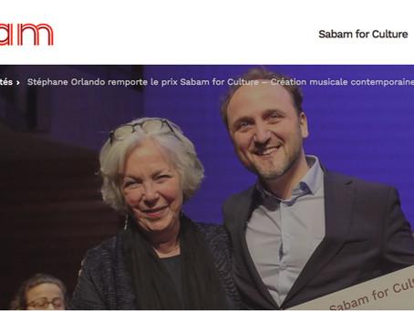 Stéphane Orlando remporte le prix Sabam for Culture – Création musicale contemporaine