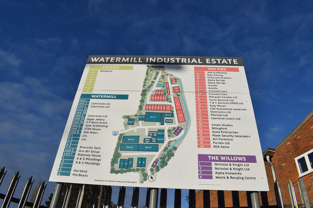 Watermill Industrial Estate Signage