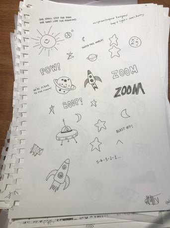 Aliens Onboard Sketches