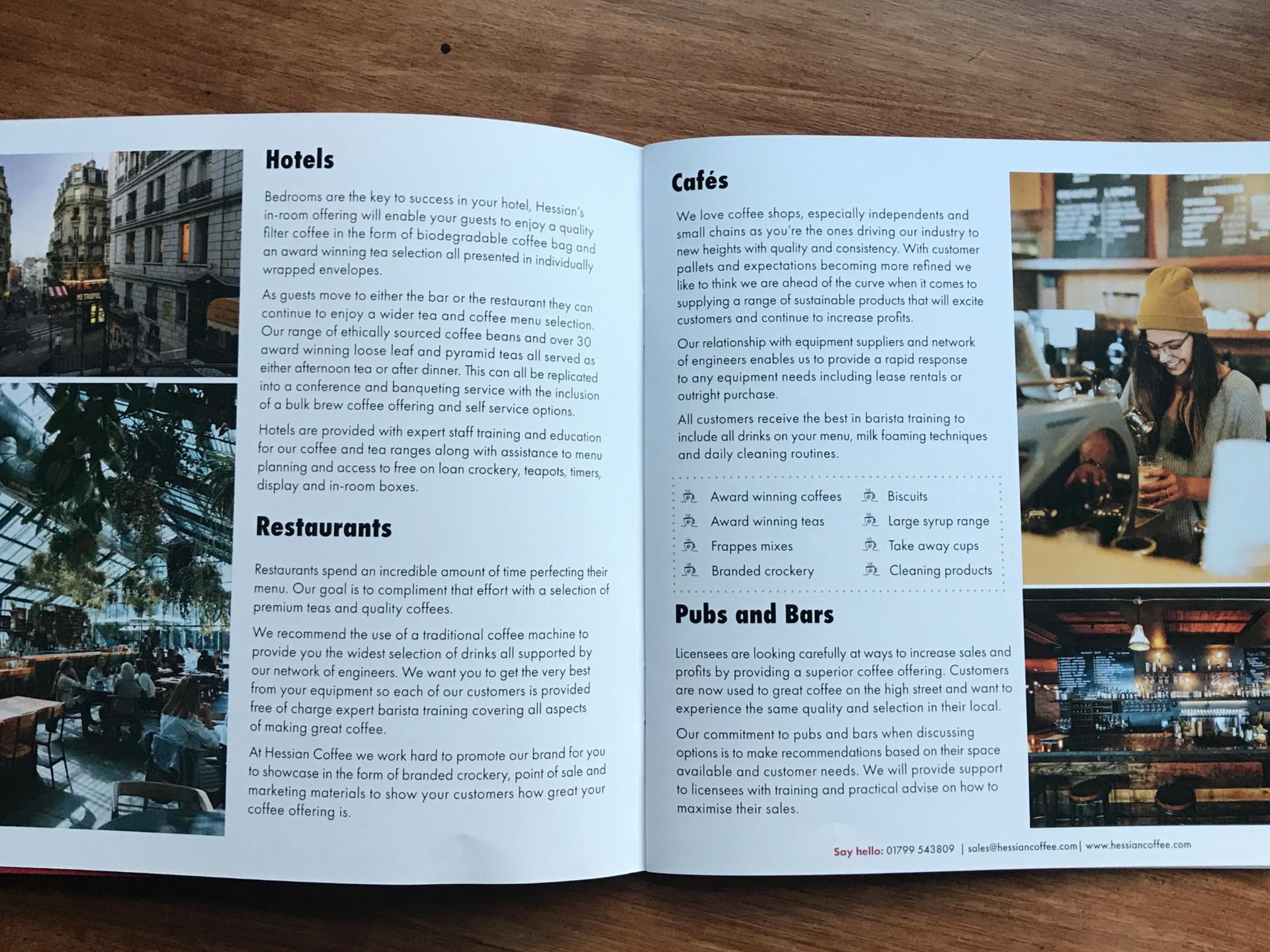 Hessian Coffee Trade Brochure