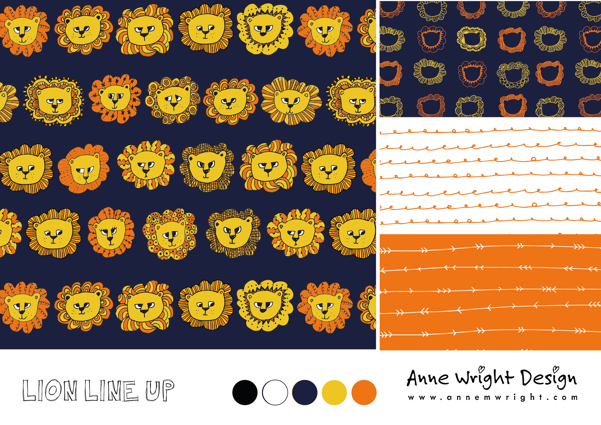 Lion Line Up Surface Design