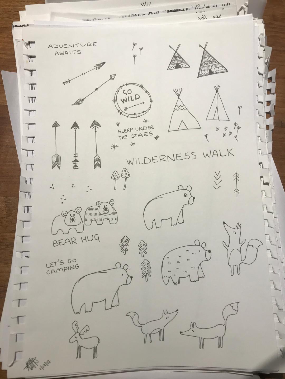 Woodland Friends Sketches