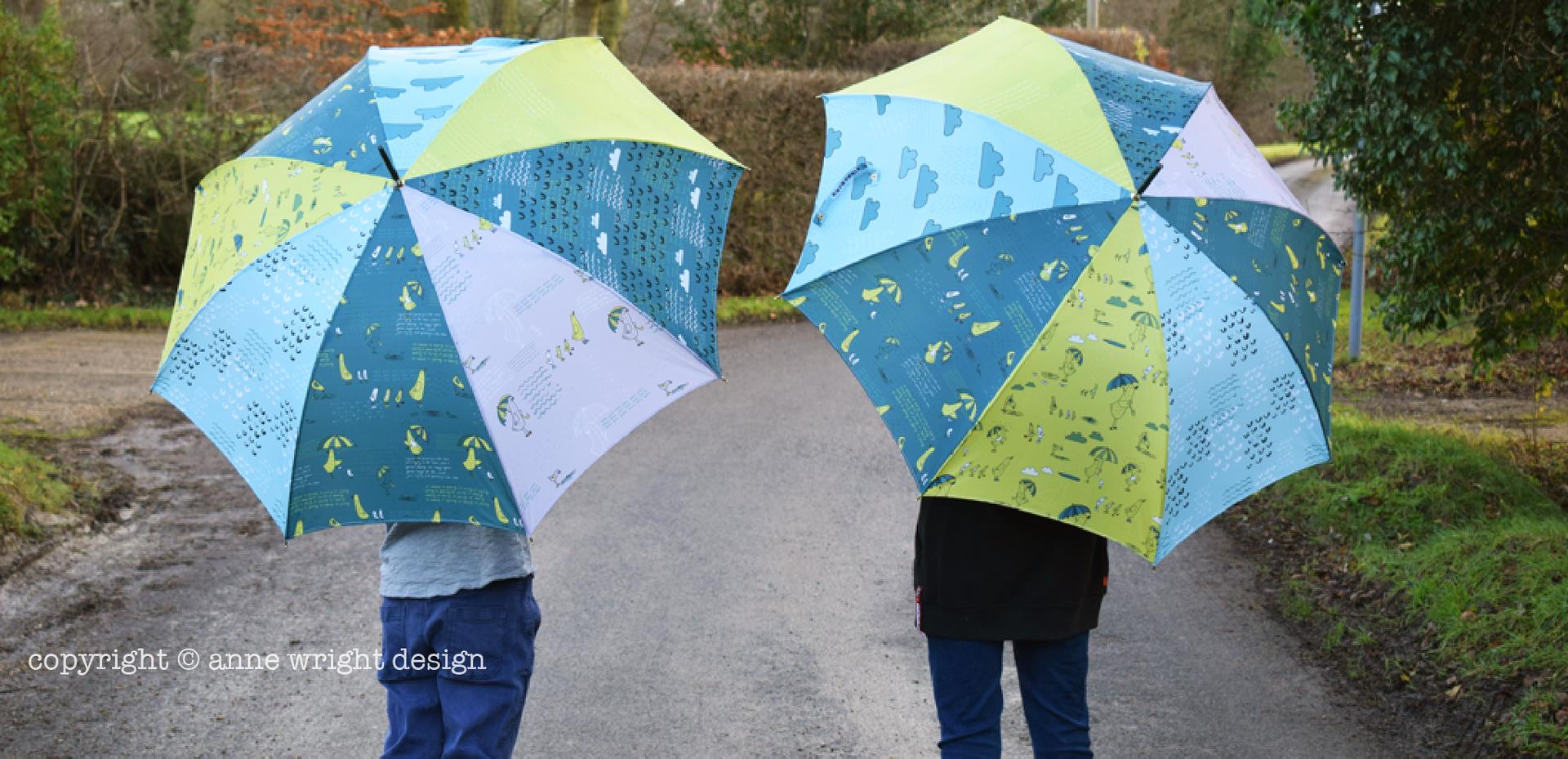 Nice Weather for Ducks Pattern on Umbrellas
