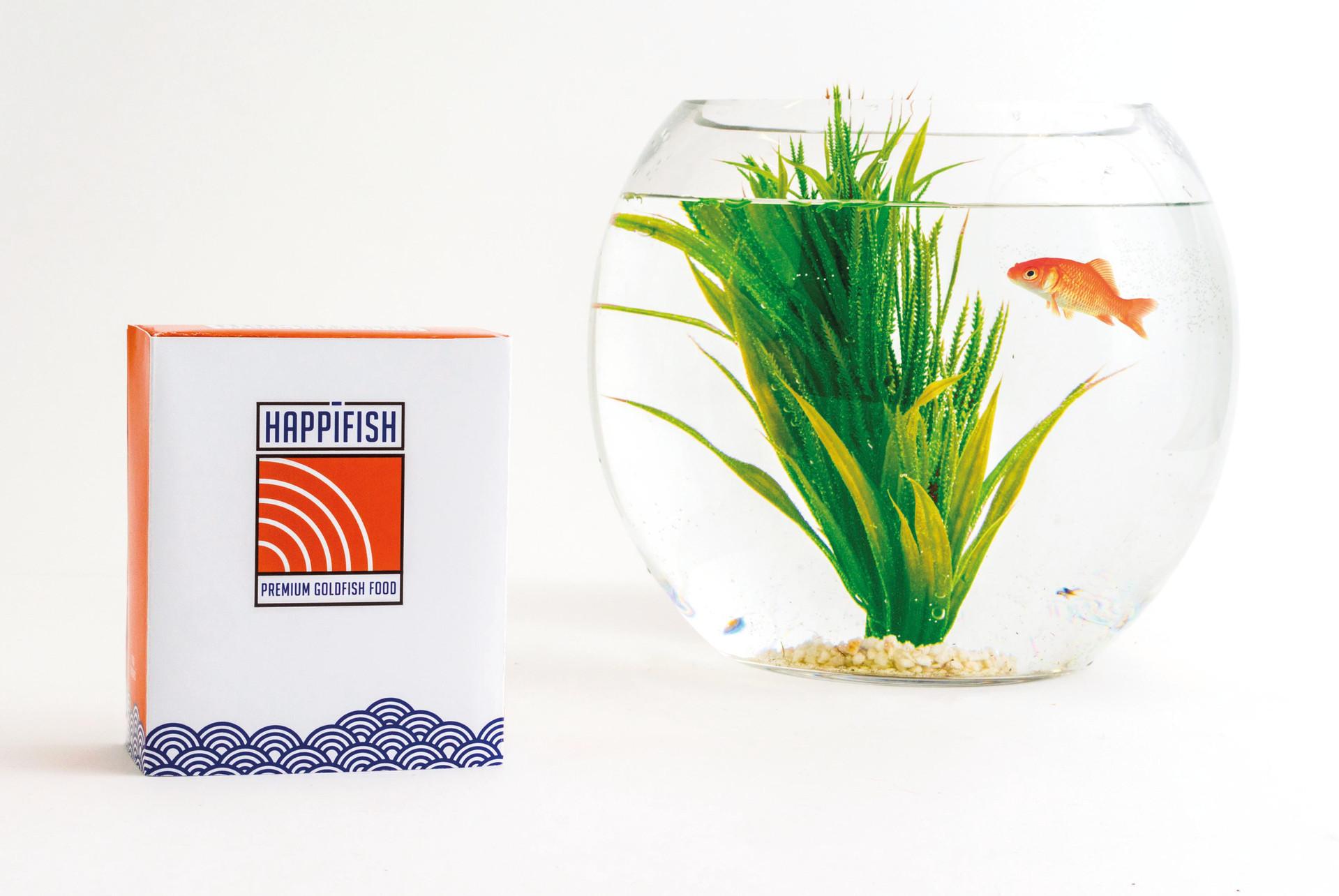 HappiFish Fish Food Packaging