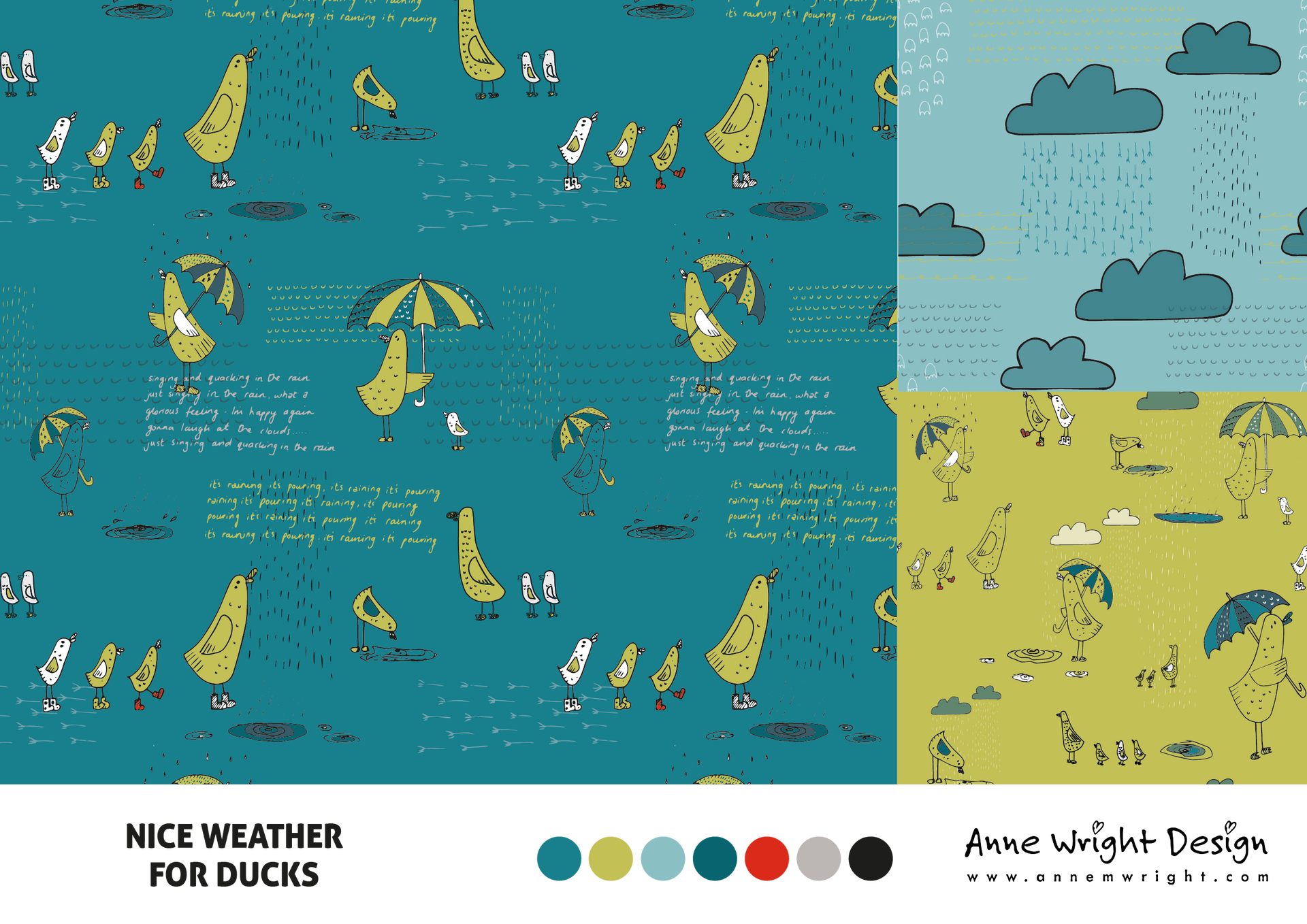 Nice Weather for Duck Surface Pattern Collection