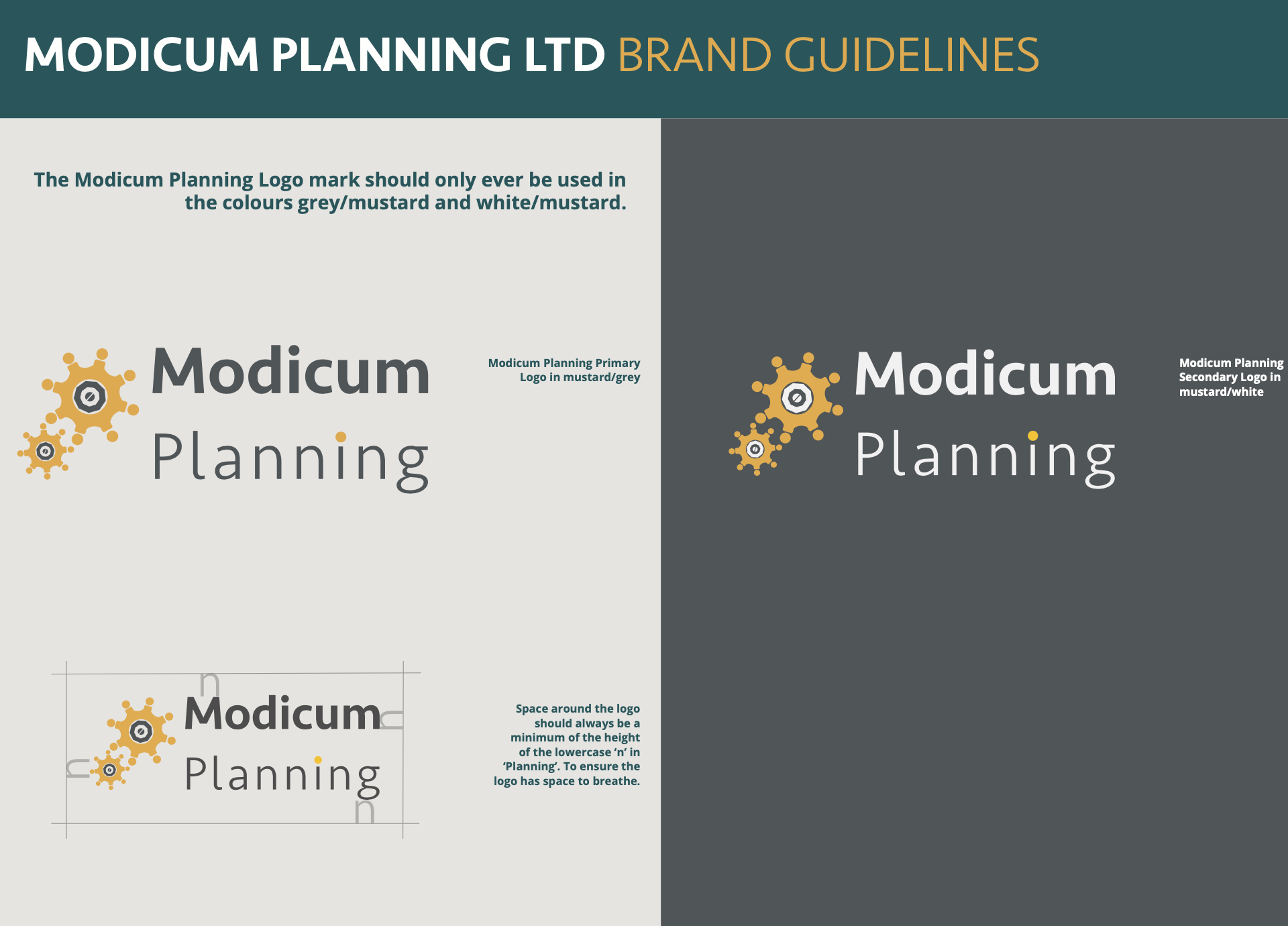 Modicum Planning Brand Guidelines