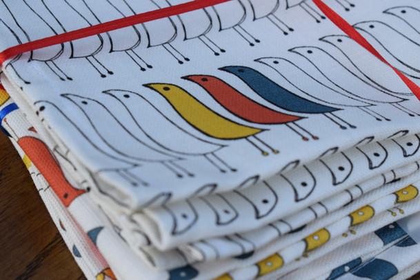 Fifities Birds Tea Towels